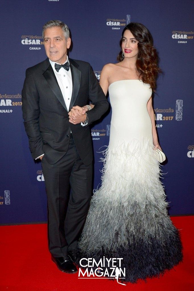 Clooney çifti gecede görüntülendi